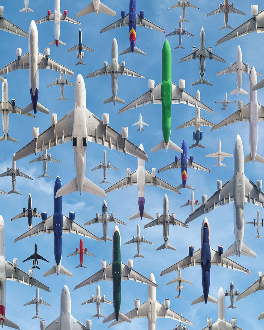 Стаи железных птиц: как выглядят транспортные потоки в аэропортах мира (18 фото)