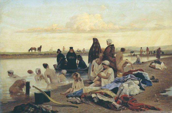 В 1930-х годах картина висела на выставке рядом с полотнами Ильи Репина. Вот посетители и решили, чт