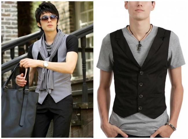 © zeusfactor.com  © amazon.com  Мужчины надевают жилетку поверх футболки или кофты, чтоб