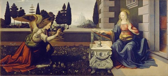 © wikipedia.org  «Благовещение», 1472–1475 Для одной изсвоих первых самостоятельных картин да