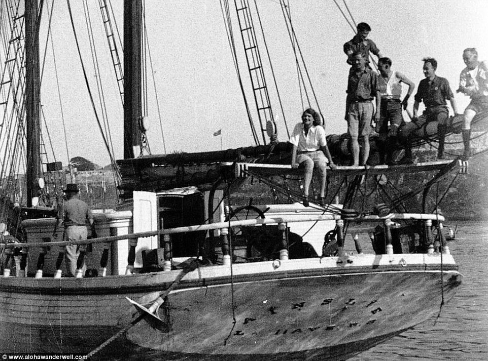 Команда корабля во время первого кругосветного путешествия.