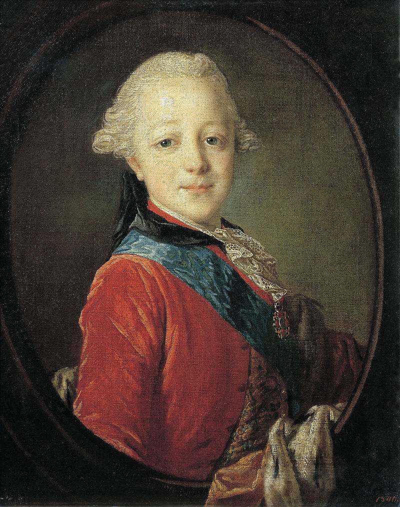 Портрет великого князя Павла Петровича в детстве (Ф. Рокотов, 1761)