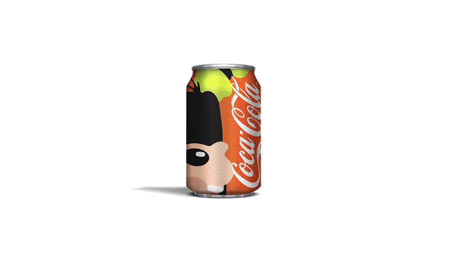 Disney Icons Coca-Cola Cans Concept