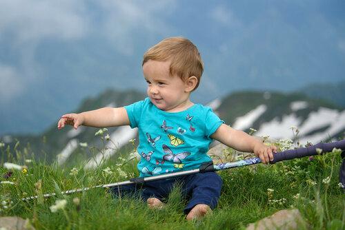 Поход с ребенком 1 год, на вершине Ачишхо