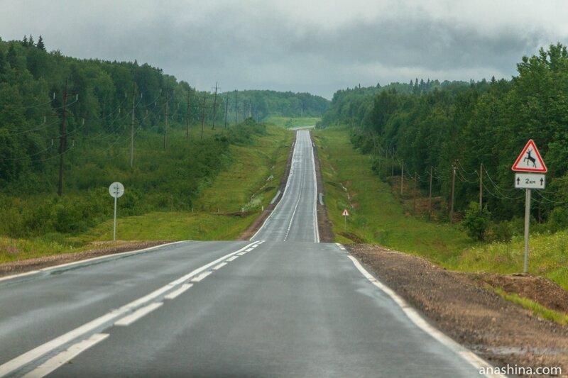 Трасса А-119 между Вологдой и Вытегорой