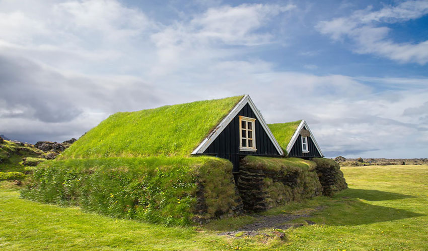 Fabulous Scandinavian houses with green roofs