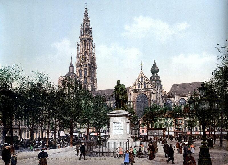 Собор и площадь Верт, конец XIX века