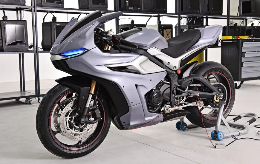 Мотоцикл, напечатанный на принтере Zortrax BIG M300 (видео)