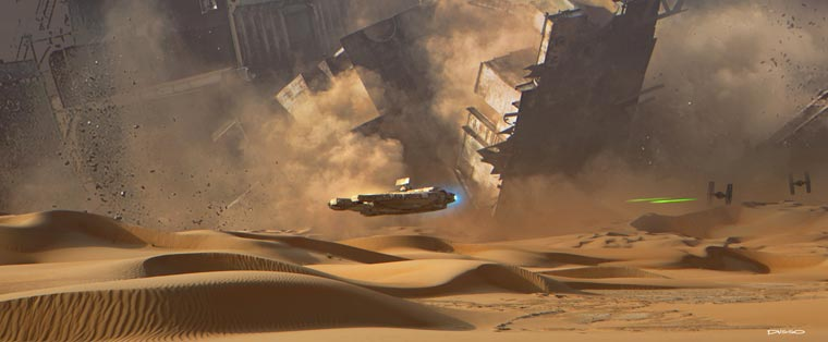 Star Wars VII Concept Art - ILM reveals the beautiful preparatory drawings