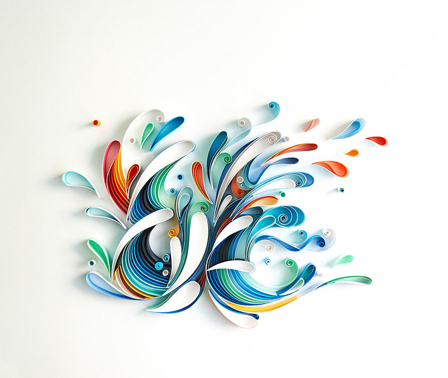 Creative and Multicolored Paper Typography by Sabeena Karnik