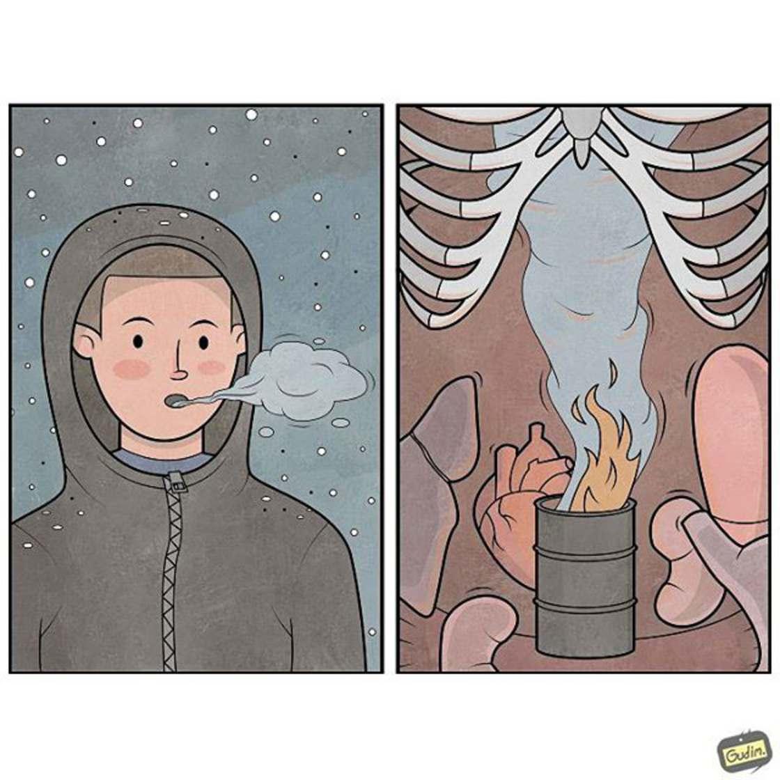 Life is Weird - Les nouvelles illustrations sarcastiques d'Anton Gudim