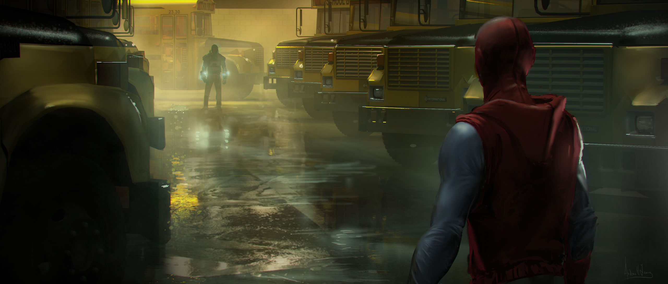 Spider-Man: Homecoming Concept Art by Andrew Leung