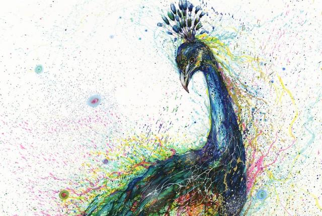 Explosive Ink Paintings