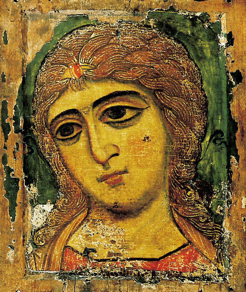 Ангел Златые власы. Новгородская икона. XII век. Русский музей.