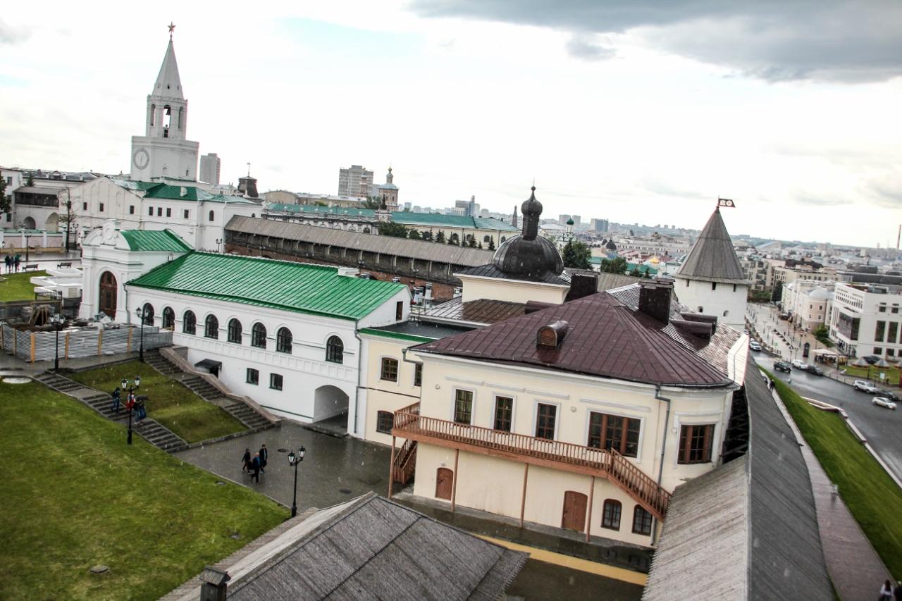Вид из Преображенской башни Кремля