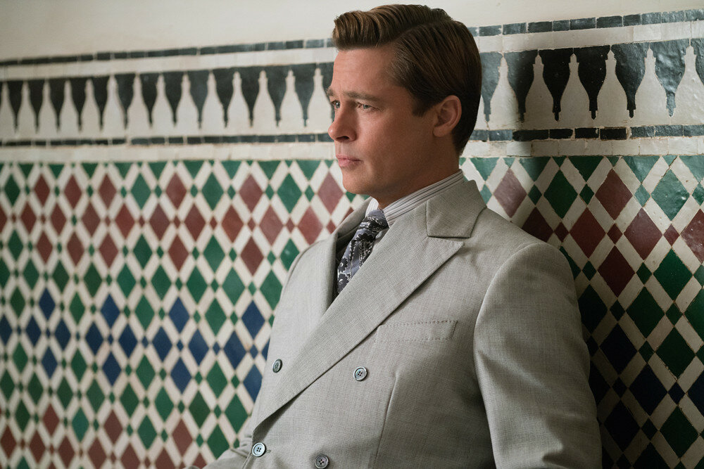 Brad Pitt plays Max Vatan in Allied from Paramount Pictures.