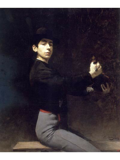 Self-portrait as a flamenco dancer, 1883