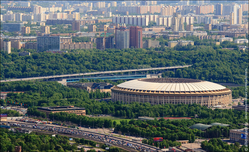 Россия. Москва с высоты. Самое высокое здание в Европе — Город столиц (фото)