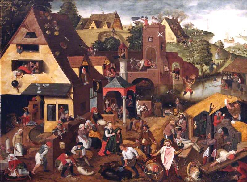 Brueghel the younger, Pieter, 1564/1565-1637/1638; Netherlandish Proverbs