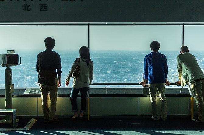 Обзор 360 градусов, на все 4 стороны света.