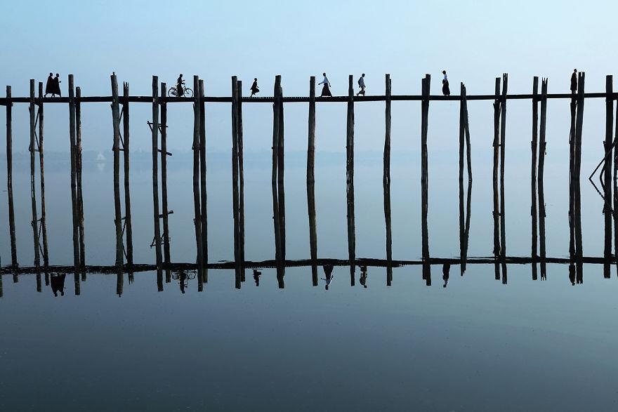 Мост Убэйн, Мьянма.