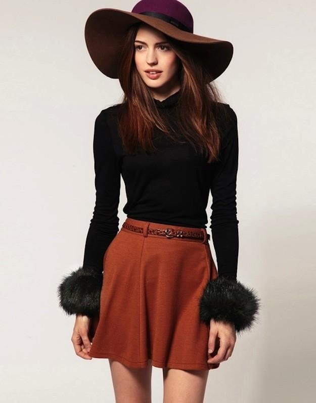 6. Шляпы из более плотных материалов подойдут элегантным леди.