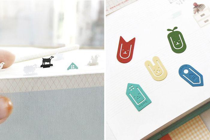 5. Миниатюрные забавные закладки Это могут быть как милые зверушки, так и улыбающиеся домики. Их нас
