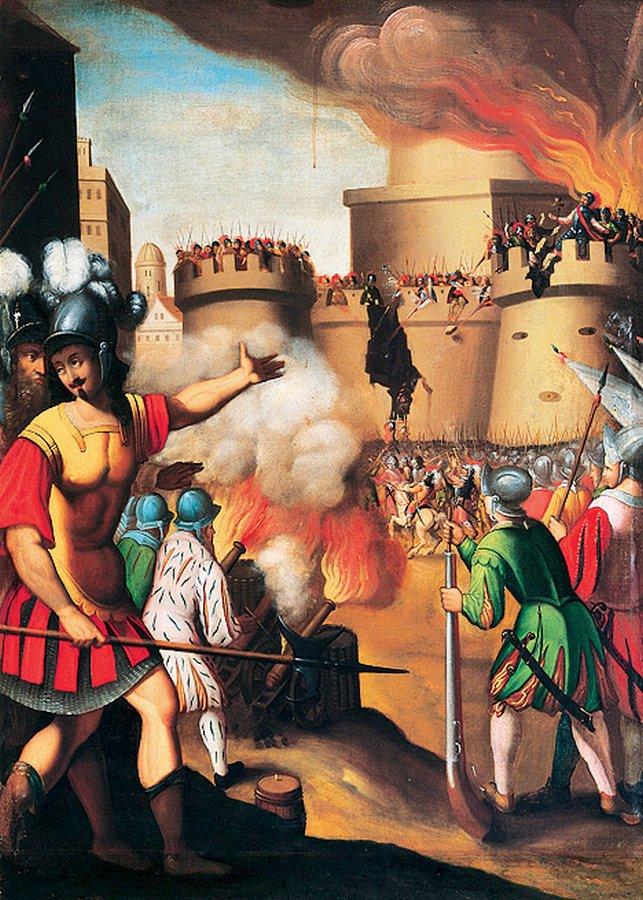 В мае 1521 года испанский дворянин Игнатий де Лойола участвовал в обороне Памплоны. Ее осаждали
