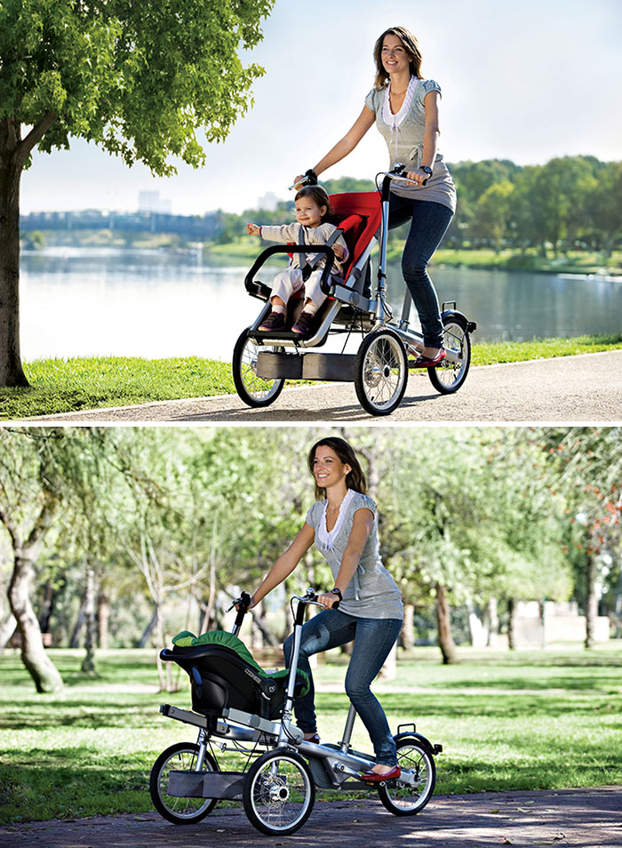 Велосипед и прогулочная коляска Taga.