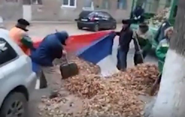 ВВолгограде возбуждено дело онадругательстве дворников над флагомРФ