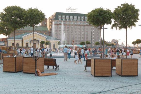 Кличко: Реконструкция Почтовой площади вКиеве закончится кмаю последующего года