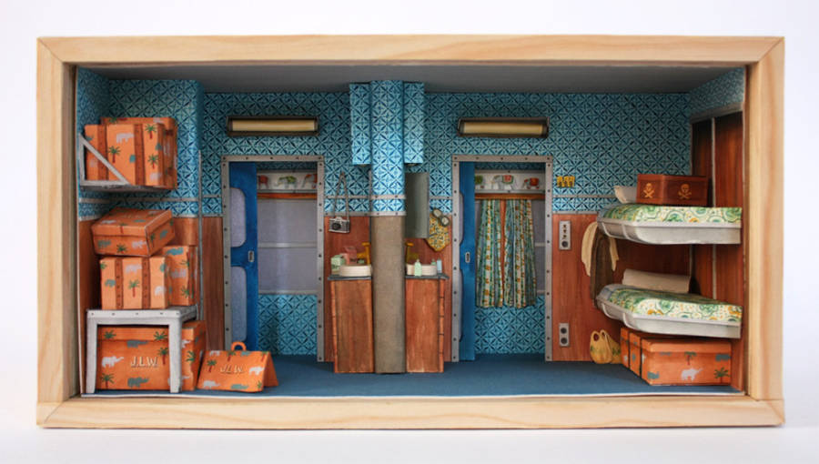 Wonderful Tiny Hand-Painted Wes Anderson Sets (14 pics)