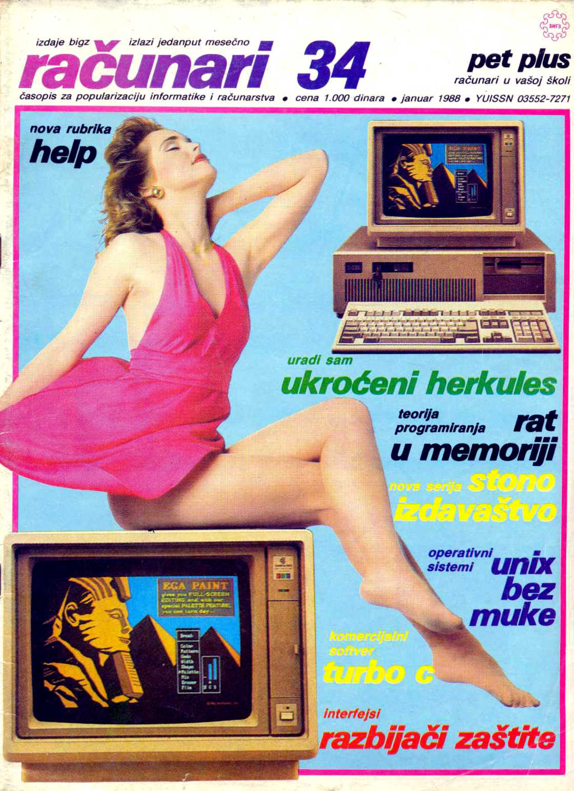 Vintage Pin-Ups and Computers - The magazine covers of the 1980s