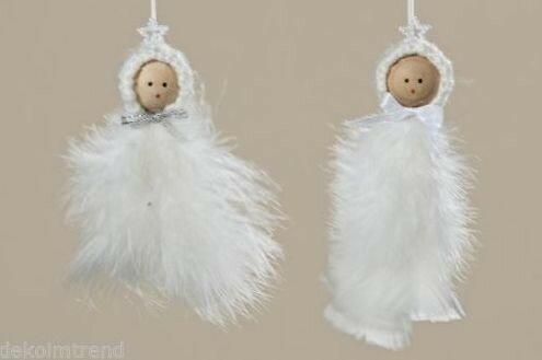 Рождественские ангелы из перьев