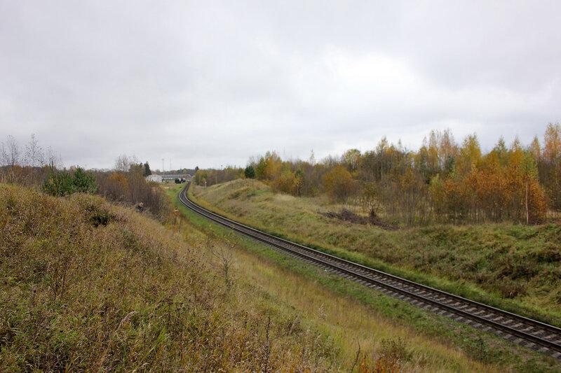 Холм у станции Себеж, перегон Гарнея - Себеж, Рижское направление