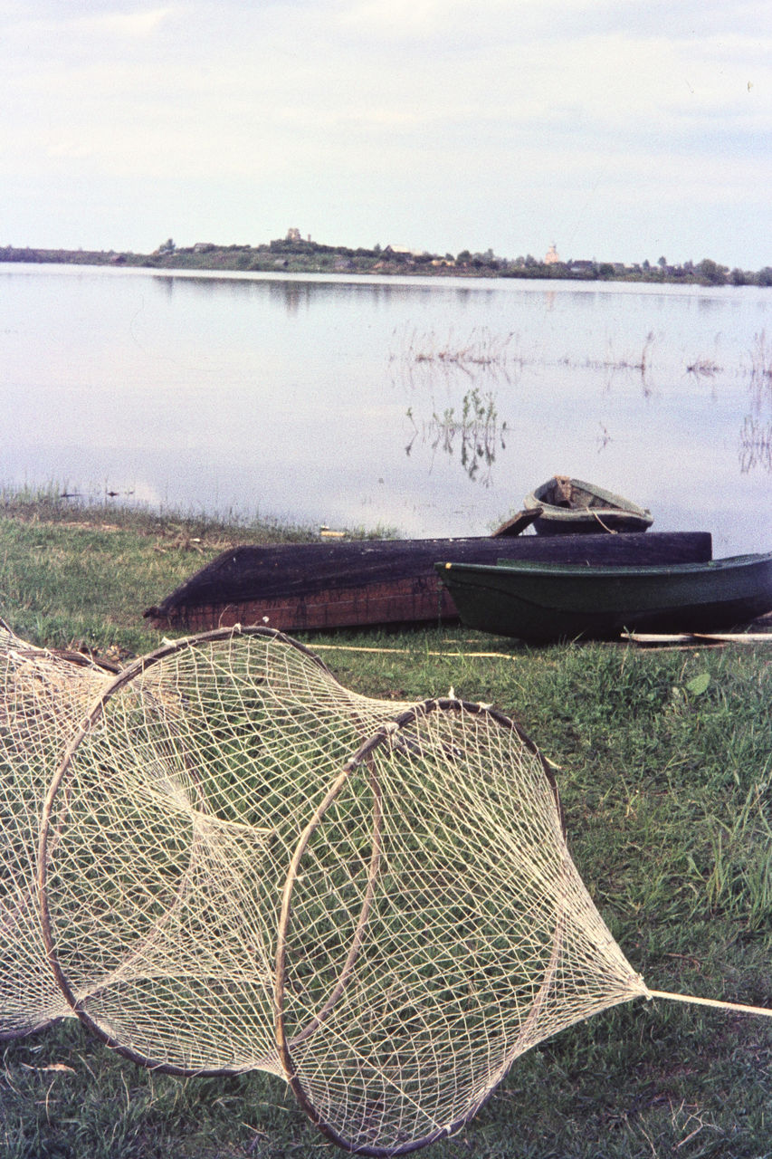 Окрестности Новгорода. Рыбацкие лодки в районе Юрьева монастыря