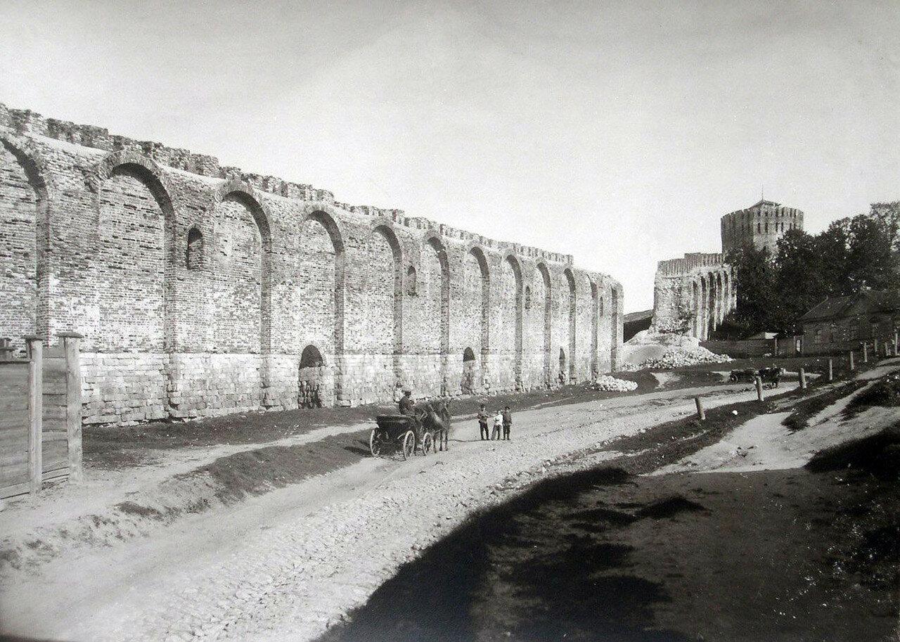 Крепостная стена и башня Веселуха. 1901