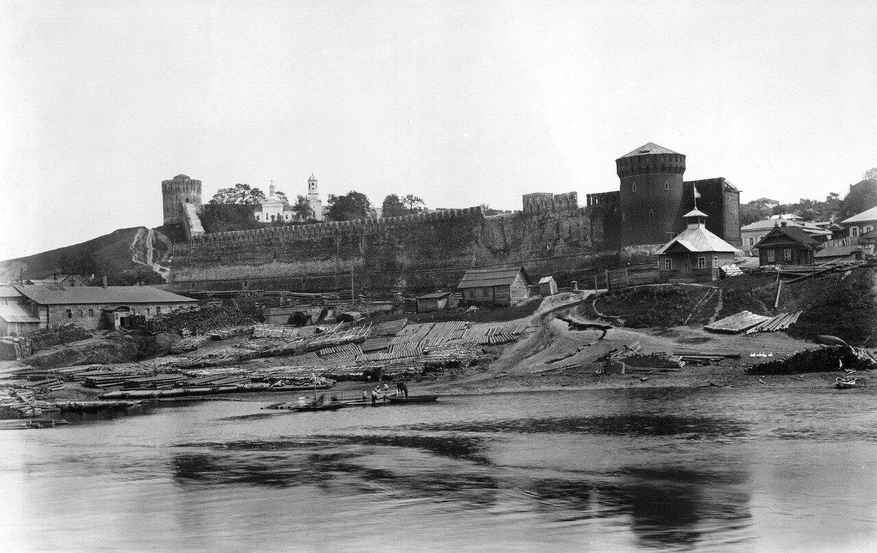 Северо-восточная часть крепостной стены. 1901