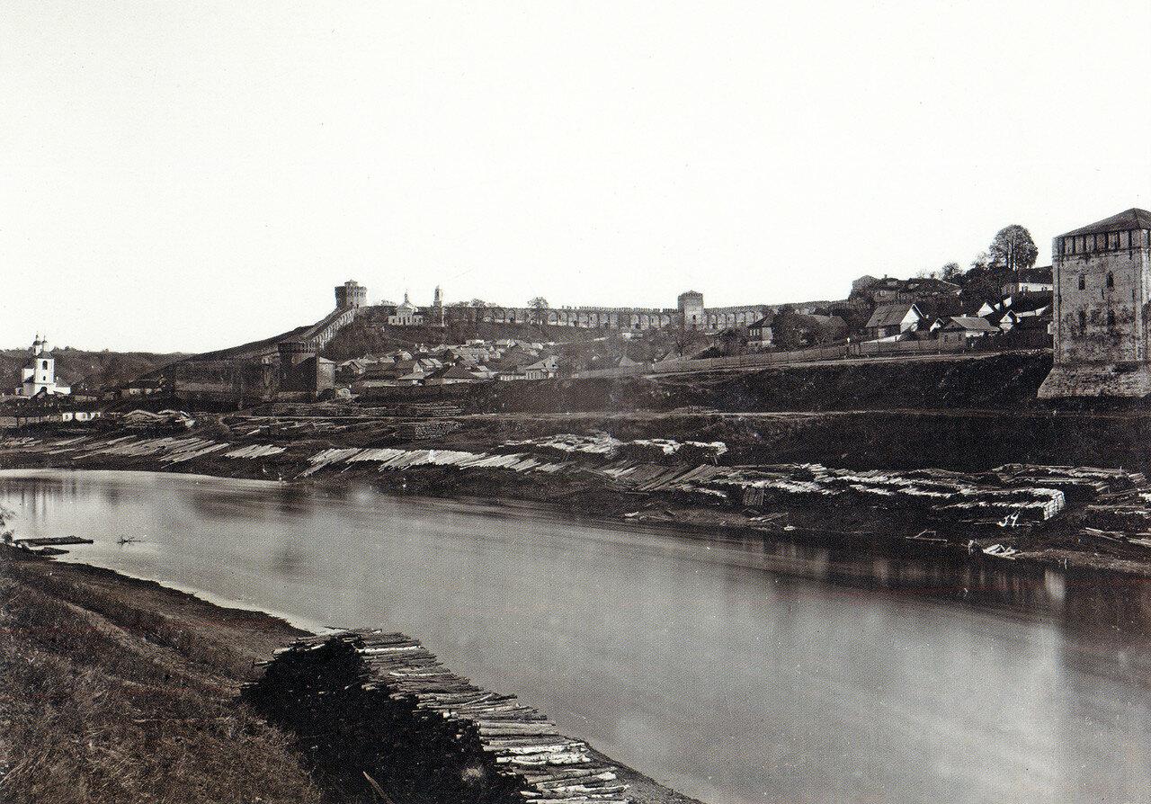 Армянская набережная и крепостная стена. 1885