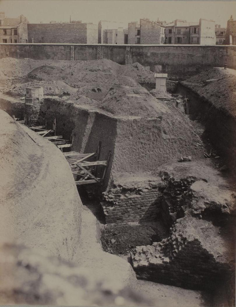 Рю де Аренас. Вид целлы возле рю Монж. 1883