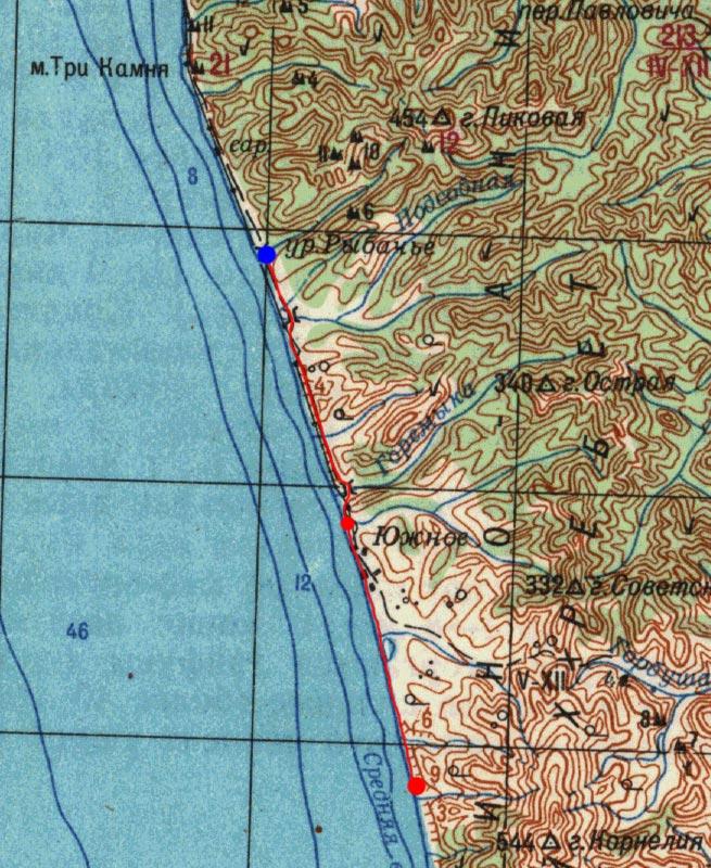 Карта маршрута 21 августа