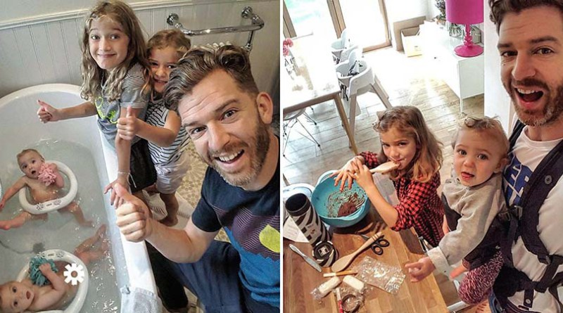 Веселый Instagram отца 4-х дочерей