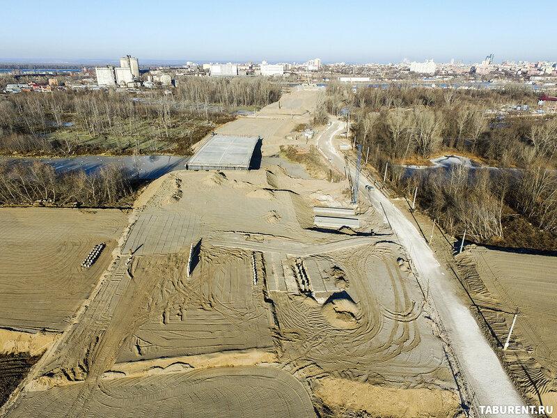Ход строительства Фрунзенского моста Ноябрь 2016