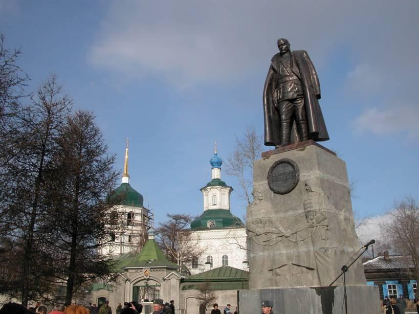 Кто устанавливал памятник Колчаку в Иркутске