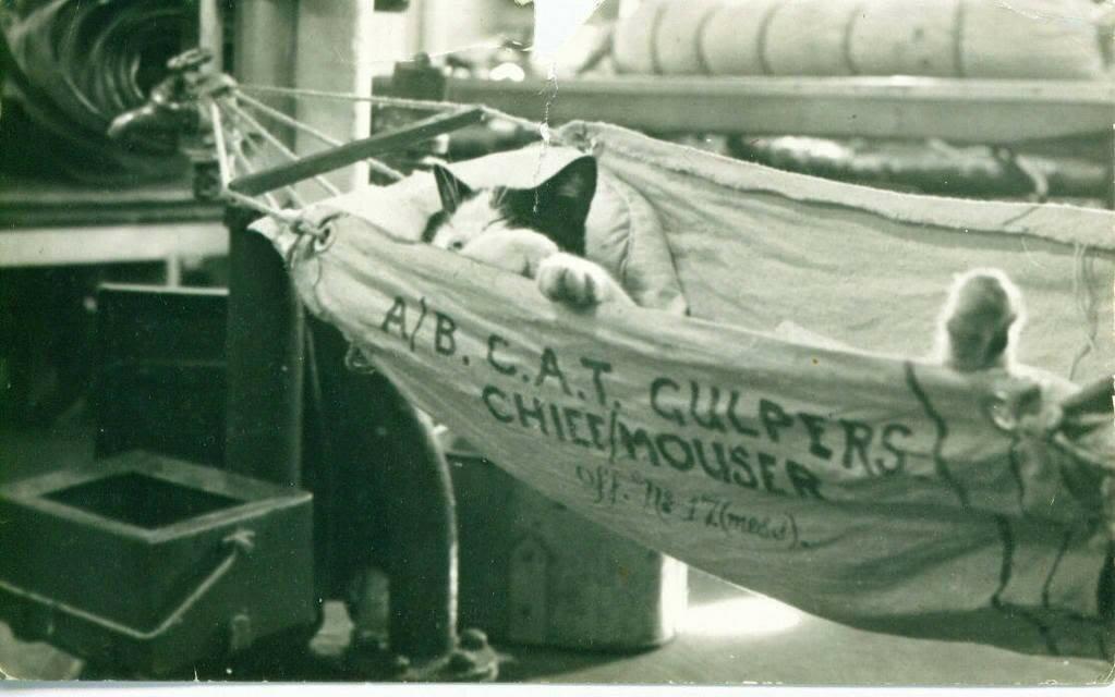 HMS Barfleur, 1945.