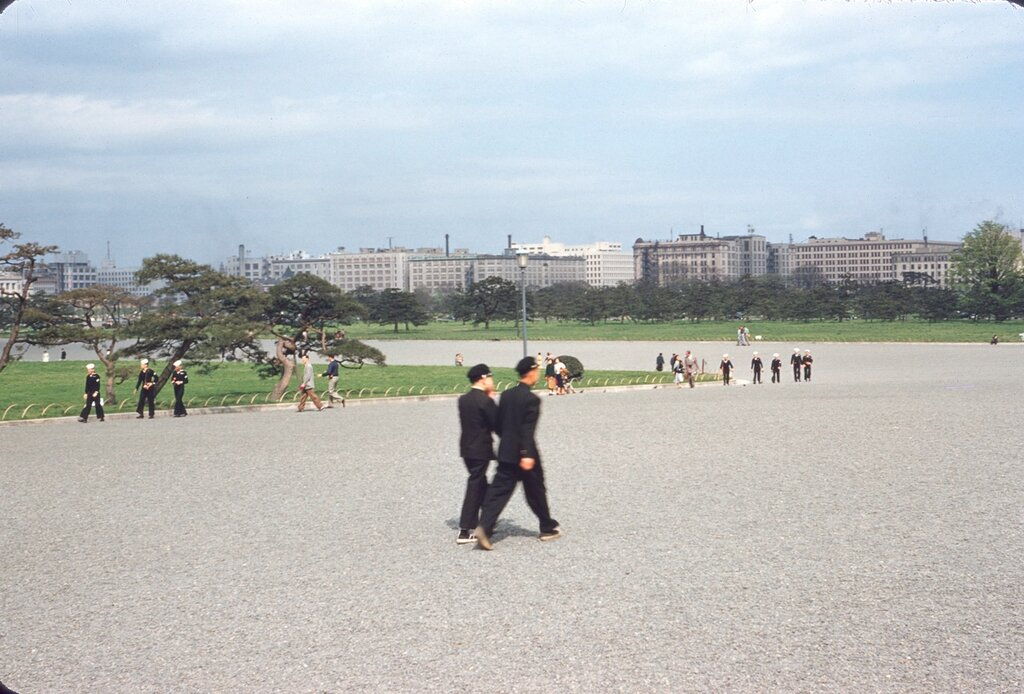 Imperial Palace grounds, 1954.