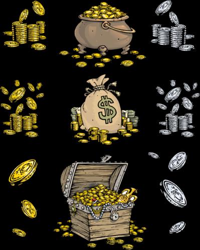 Клипарт деньги богатство