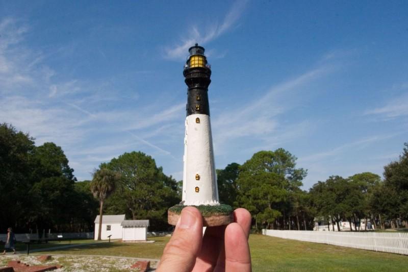 28. Маяк на острове Хантинг, Северная Каролина.