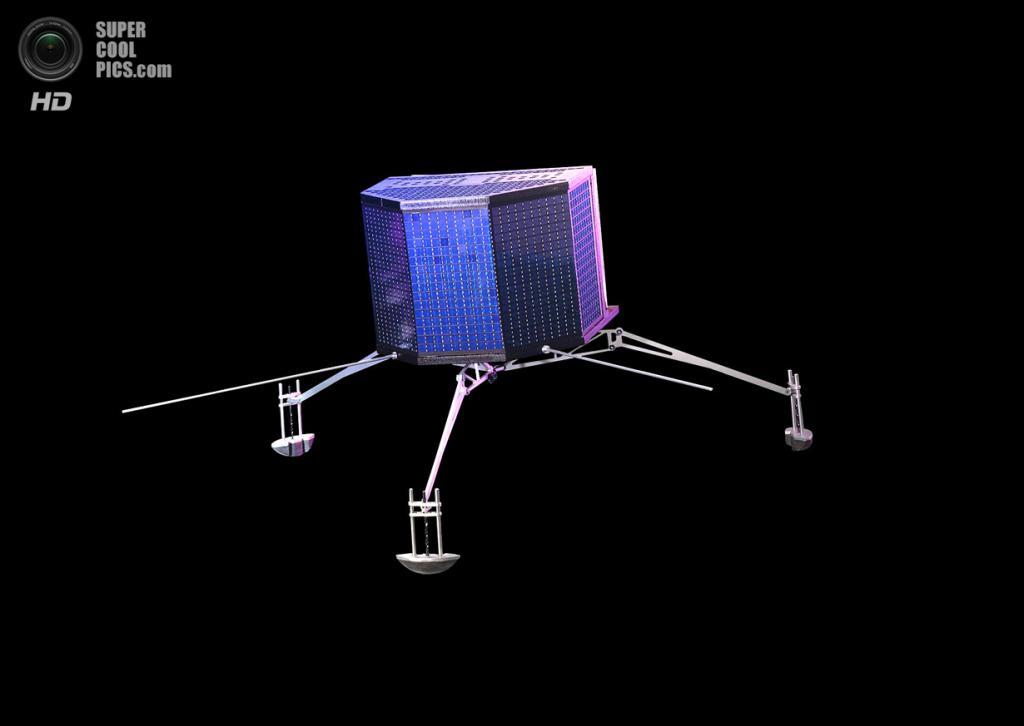 Художественное представление спускаемого модуля «Филы». (ESA/Astrium E, Viktor/ATG medialab)