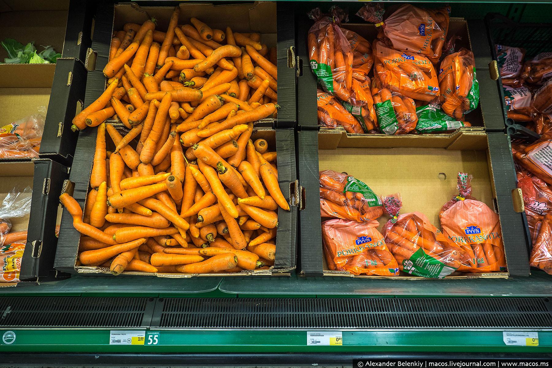 Морковка. Обратите внимание, ВСЯ — мытая. Кажется, только у нас считают, что можно подкидывать людям